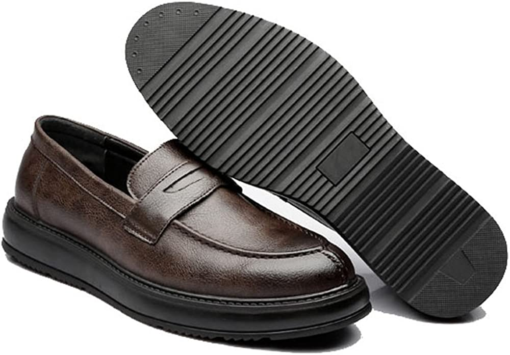 Men Mens Formal Business Shoes Classic Slip-on Loafers PU Leather Casual Outsole Oxfords Breathable Shoes
