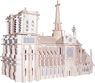 Notre Dame Cathedral Simulation Notre Dame Cathedral Paris Building Model Kits 3D Wooden Puzzle Craft Souvenir Toys Gift for Children Kids Adults Katoot