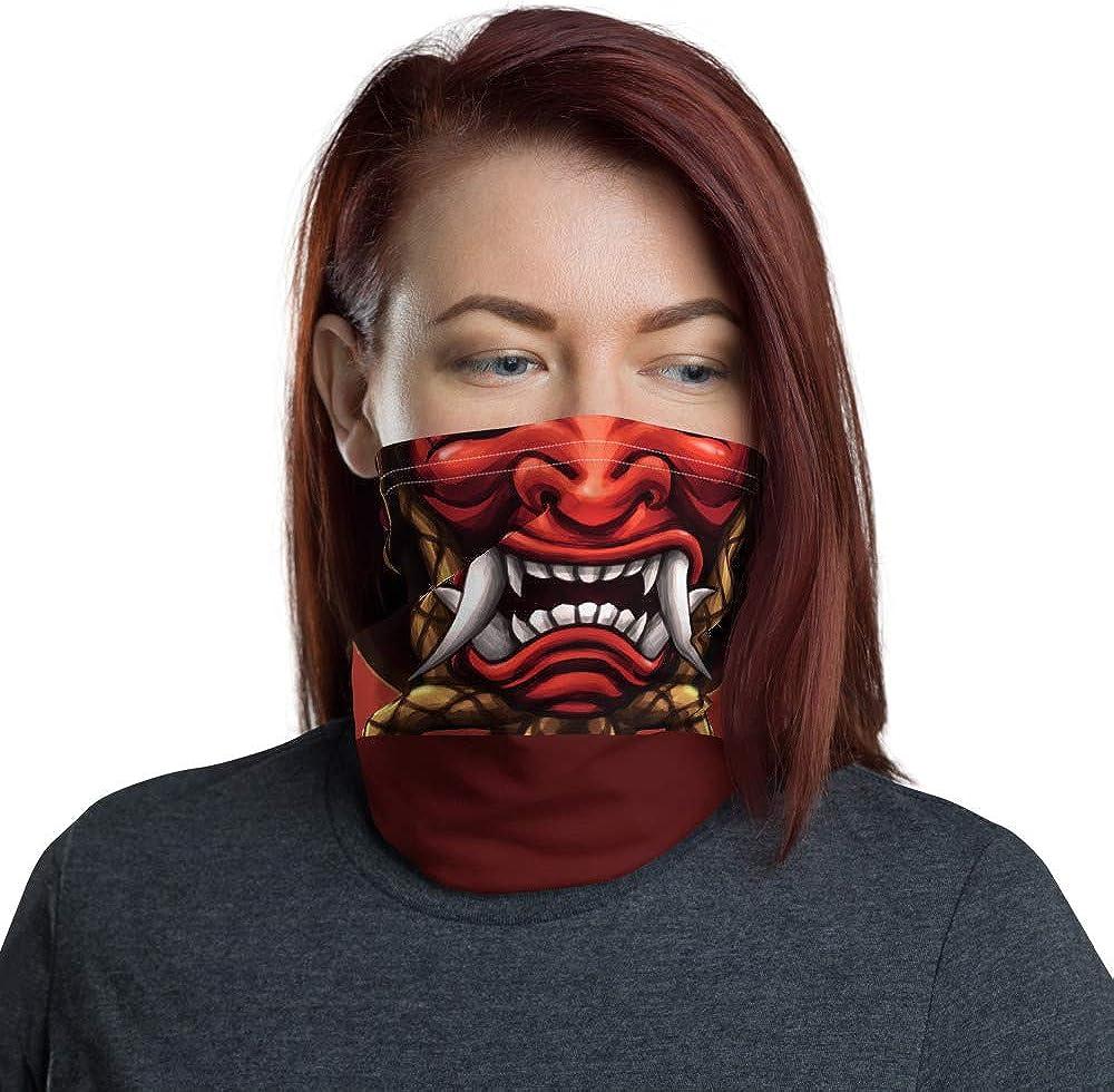 Phenotype Rashguards Red Samurai Neck Gaiter Face Scarf Cover Headwear Buff Bandana Mask Scarf Balaclava