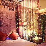 Redxiao 【𝐁𝐥𝐚𝐜𝐤 𝐅𝐫𝐢𝐝𝐚𝒚】 Luz de Cortina de función única, luz de Cadena, garantía de Seguridad Luz de Cadena Blanca cálida Decoración para Bodas Ventana Jardines Navidad(Warm White)