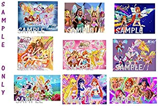 9 Winx Club Inspired Stickers, Favors, Labels, Birthday, Decorations, Party Supplies