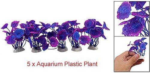 wholesale Mallofusa 5PC Artificial Aquarium Plant sale Decor Plastic Water Grass for discount Aquarium Fish Tank Decoration 710cm Purple online sale