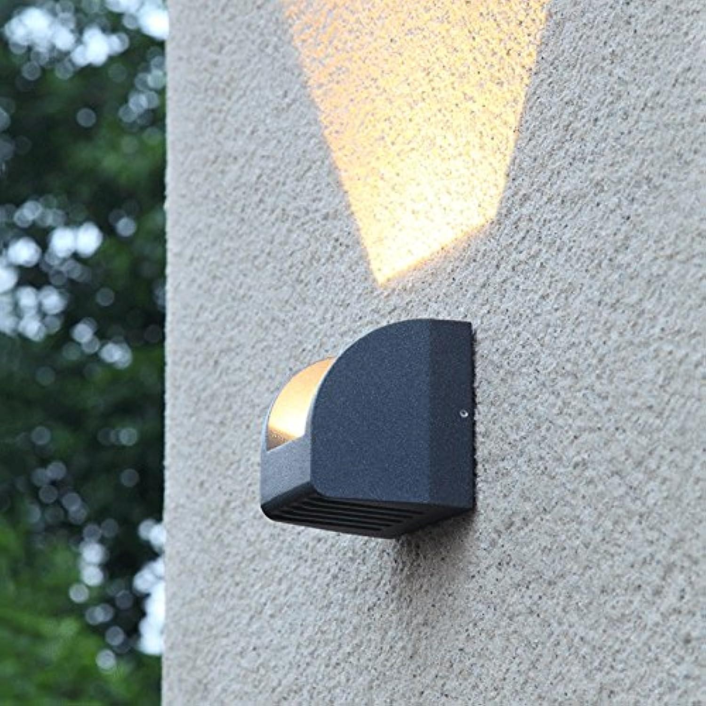 Vinteen Moderne Einfache Kreativitt Im Freien Wasserdichte Wandleuchte LED Terrasse Beleuchtung Tür Dekoration Licht Terrasse Balkon Blaume Garten Licht Wandlaterne (Gre   Unidirectional light)
