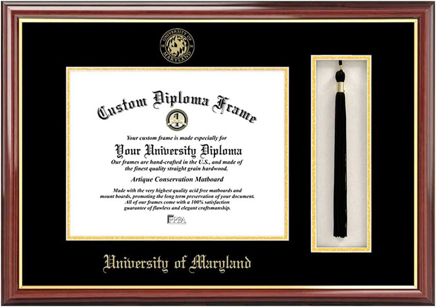 University of Maryland Tassel Box and Diploma Frame