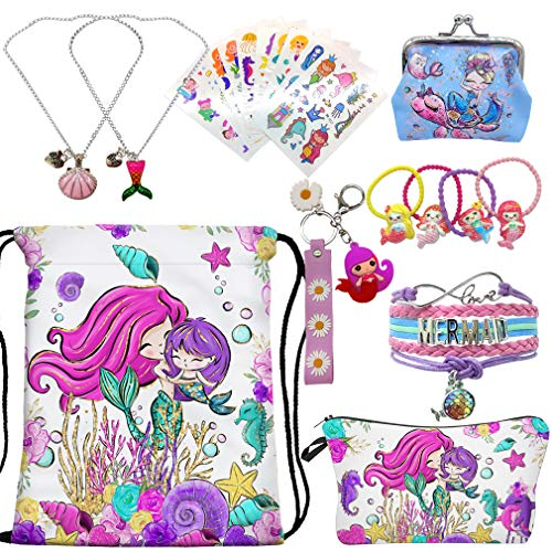 Mermaid Necklace & Makeup Bag Gift Set