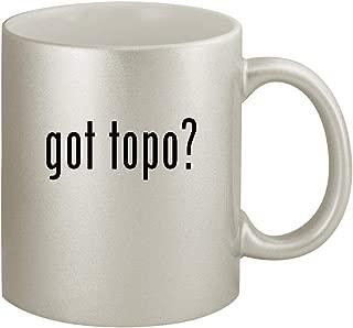 got topo? - Ceramic 11oz Silver Coffee Mug, Silver