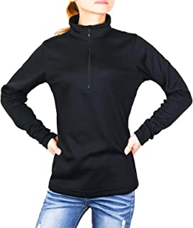 Litume Women's Long Sleeve Quarter Zip Pullovers, Odor Control & Quick-Dry Active Sports Shirt for Hiking, Sports (S - 2XL)