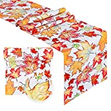 B-COOL 100% Polyester Waterproof Reusable Table Runner Printed Kitchen Table Runner for Dinner Parties and Holidays13x84 inch 2 Packs