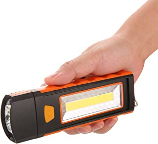 Lixada Portable Pocket LED Flashlight Magnetic Work Light 180 Degree Stand Hanging Torch Lamp