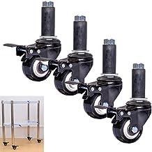 Zwenkwiel met ronde buis met remmen, 2-inch dubbelgelagerd zwenkwiel, zwenkwielen voor expansiebuisjes, trolley-meubelzwen...