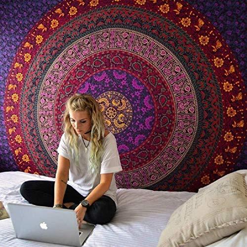 Tapiz Mandala Tapiz Colgante de Pared Impresión Digital Estera de Playa Protector Solar Mantón Cuadrado 150x110cm
