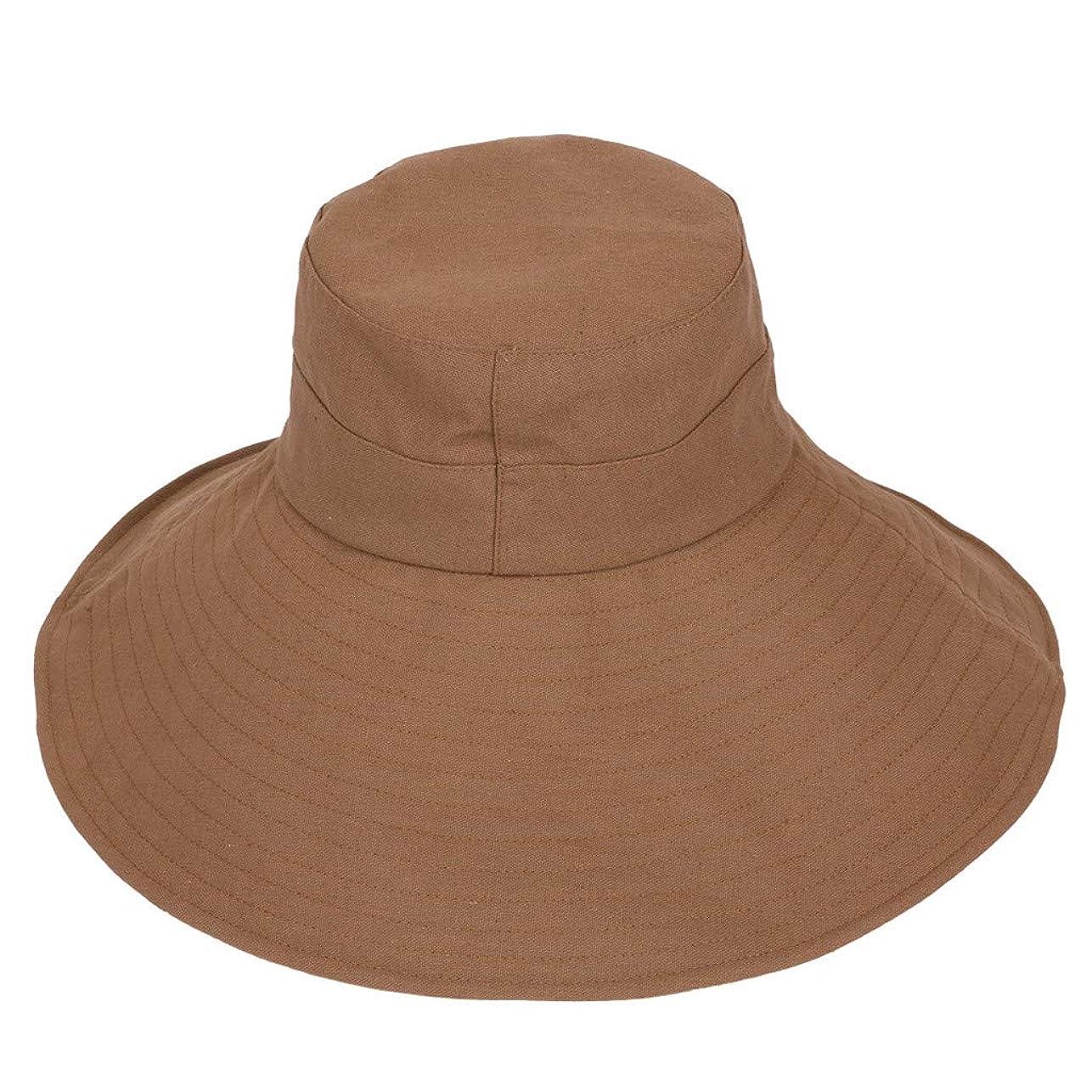 団結一次人形漁師帽 ROSE ROMAN 帽子 レディース UVカット 帽子 UV帽子 日焼け防止 軽量 熱中症予防 取り外すあご紐 つば広 おしゃれ 可愛い 夏季 海 旅行 無地 ワイルド カジュアル スタイル ファッション シンプル 発送