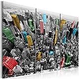 murando Quadro Acustico New York 135x90 cm 3 Pezzi Quadri Moderni su Tela Non Tessuta Stampa Protezione dai Rumori Isolamento Acustico Fonoassorbente 030111-7