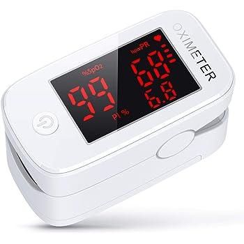 3 in 1 Saturimetro, konjac Ossimetro, Pulsossimetro da Dito Monitor di Saturazione di Ossigeno nel Sangue (SpO2) con PR (Frequenza del Polso) e PI (Indice di Perfusione)