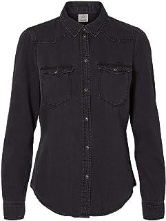 Amazon.es: Negro - Blusas y camisas / Camisetas, tops y ...