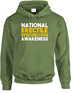 National ERECTILE DYSFUNCTION Awareness - Mens Hoodie, XL, Military