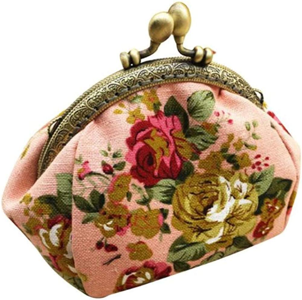 Coin cheap Purse Lady Ranking TOP7 Vintage Floral Wallet Closure Clasp Mini Classic