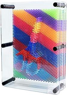 010 3D Pin Art Board Sculpture Pin Shape Cloner Antistress Clone Fingerprint Needle Painting Toy Sculpture Pin Impression Mold 3-Dimensional