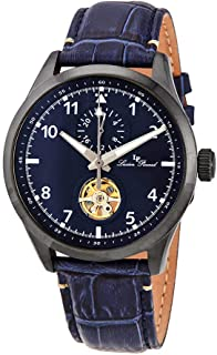Lucien Piccard GMT Open Heart Automatic Blue Dial Men's Watch 1295A6