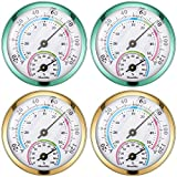 4 Pieces Indoor Outdoor Thermometer Wireless Mini Hygrometer...