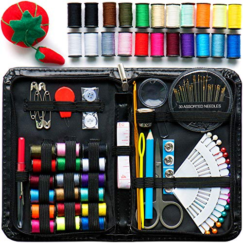 Evergreen Art Supply Sewing Kit Includes 40 Spools of Thread, All You Need, & More! Perfect as a...