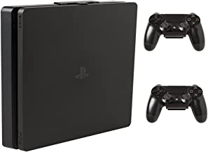 HIDEit 4S PS4 Slim Wall Mount and (2) Controller Wall Mounts (PlayStation 4 Slim Bundle) - HIDEit Behind the TV or DISPLAYit - Made in the USA and Trusted Worldwide Since 2009