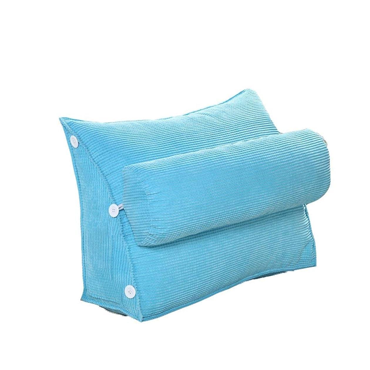 先入観便利さラメ18-AnyzhanTrade クッションソファピロークッションベッドヘッドラージピローオフィスウエストから洗えるトライアングル (Color : B, サイズ : 60*50*22cm)