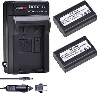Batmax 2Pcs 1400mAh EN-EL1 Battery + Charger Kits for Nikon EN-EL1 CoolPix 4300 5400 8700 5700 775 8700 880 885 995 Coolpix E880 and Konica Minota DG-5W Dimage A200 Cameras