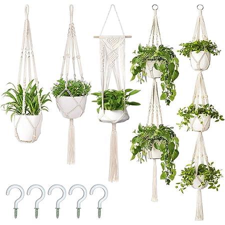 Home Decor Hanging Basket Holder Acorn Plant Holder Easter GIft Acorn Hanger Plant Pot Holder Hanging Planter Knitted Plant Hanger