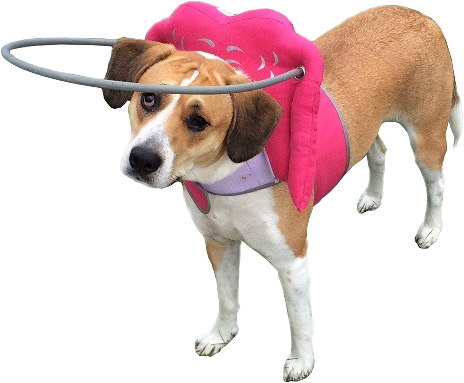 Muffin's Halo Blind Dog Harness Guide Device – Help for Blind Dogs or Visually Impaired Pets to Avoid Accidents & Build Confidence – Ideal Blind Dog Accessory To Navigate Surroundings – Pink Medium