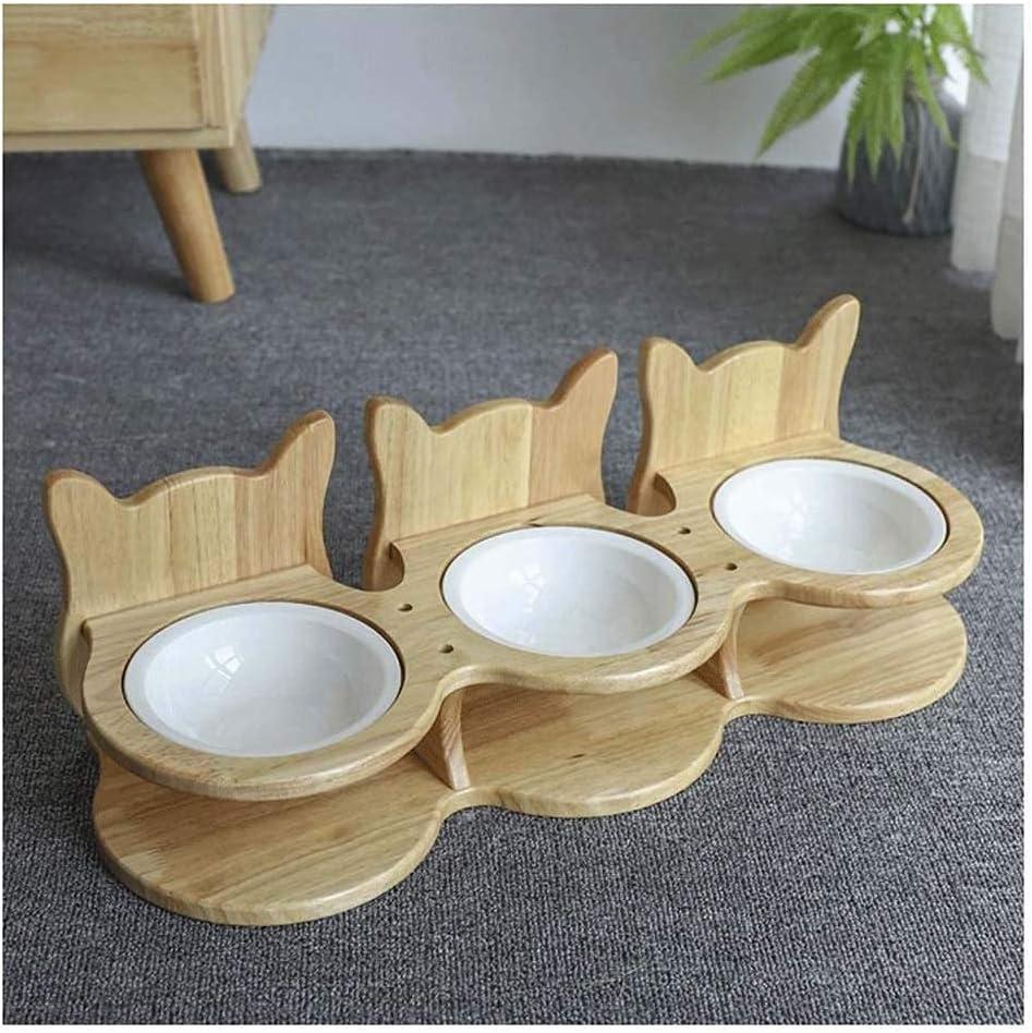 XHJTD Bowl Raised Same day shipping Feeder Bargain Ceramic F Pet Dog Cat Bowls