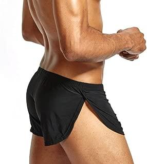 Fashion Sleepwear Loose Comfy Men's Boxer Shorts Pajamas Side Split Underwear Shorts Panties Underpants Mens Underwear