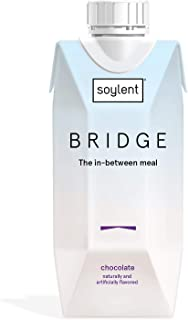 Soylent Bridge, 180 Calorie Nutrition Shake, Chocolate, 15g Plant Protein, 11 Fl. Oz., Pack Of 12