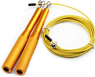 YaFex Adjustable Skipping Rope, Steel Jump Rope for Gym Lose Weight Gymnastics Fitness MMA Boxing, Metal Cord Speed Rope C...