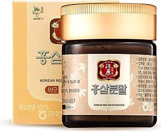 [Gangwoninsam] Korean Red Ginseng Powder – 6 Year Old Red Ginseng Powder 100%, Korean Health Food, 60g / 2.12 fl. oz