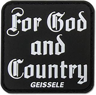 """Geissele Automatics for God & Country Patch Sticker, 2"""""""