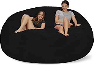 Chill Sack Chill Bag - Bean Bags Bean Bag Chair: Giant Memory Foam Furniture Bean Bag - Big Sofa with Soft Micro Fiber Cover, 8', Black