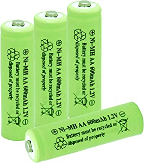 1.2v AA Nimh 600mAh Rechargeable Battery for Outdoor Solar Lights Garden Lamp(4 Pack)