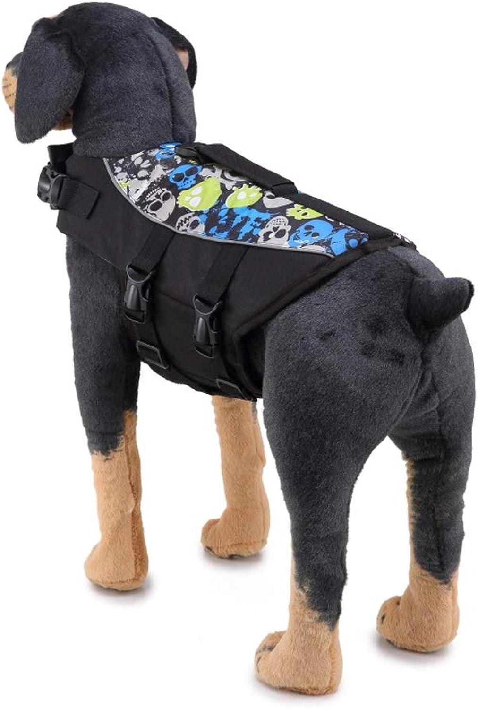 Qinniao Dog Life Jacket Pet Swimsuit Cute Shape Lifebuoy Reflective Swimsuit Clothes Dog Swimsuit Pet Supplies Quality Life Jacket (color   Black, Size   S)