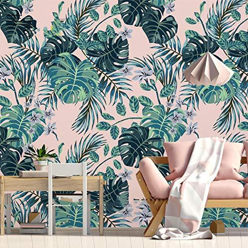 Box Club Muurschilderingen_ Behang Banaan Plant Bloemen Behang Tropische Regenwoud Hotel Box Club Muur SchilderijBehang 3D Muur Mural Plakken Border 200cm×140cm