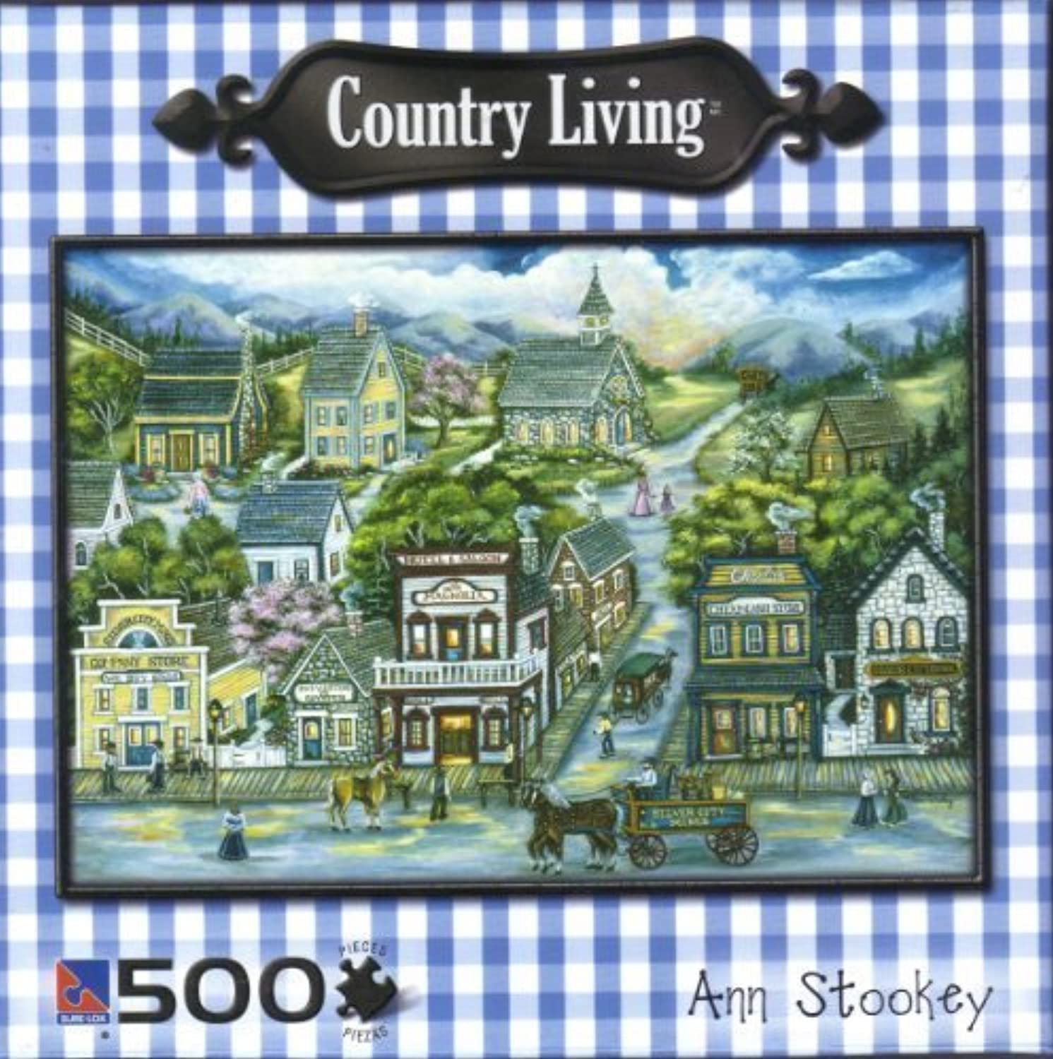 Ann Stookey Country Living 500 Piece Jigsaw Puzzle  Silber City 19  x 14  by Sure-Lox