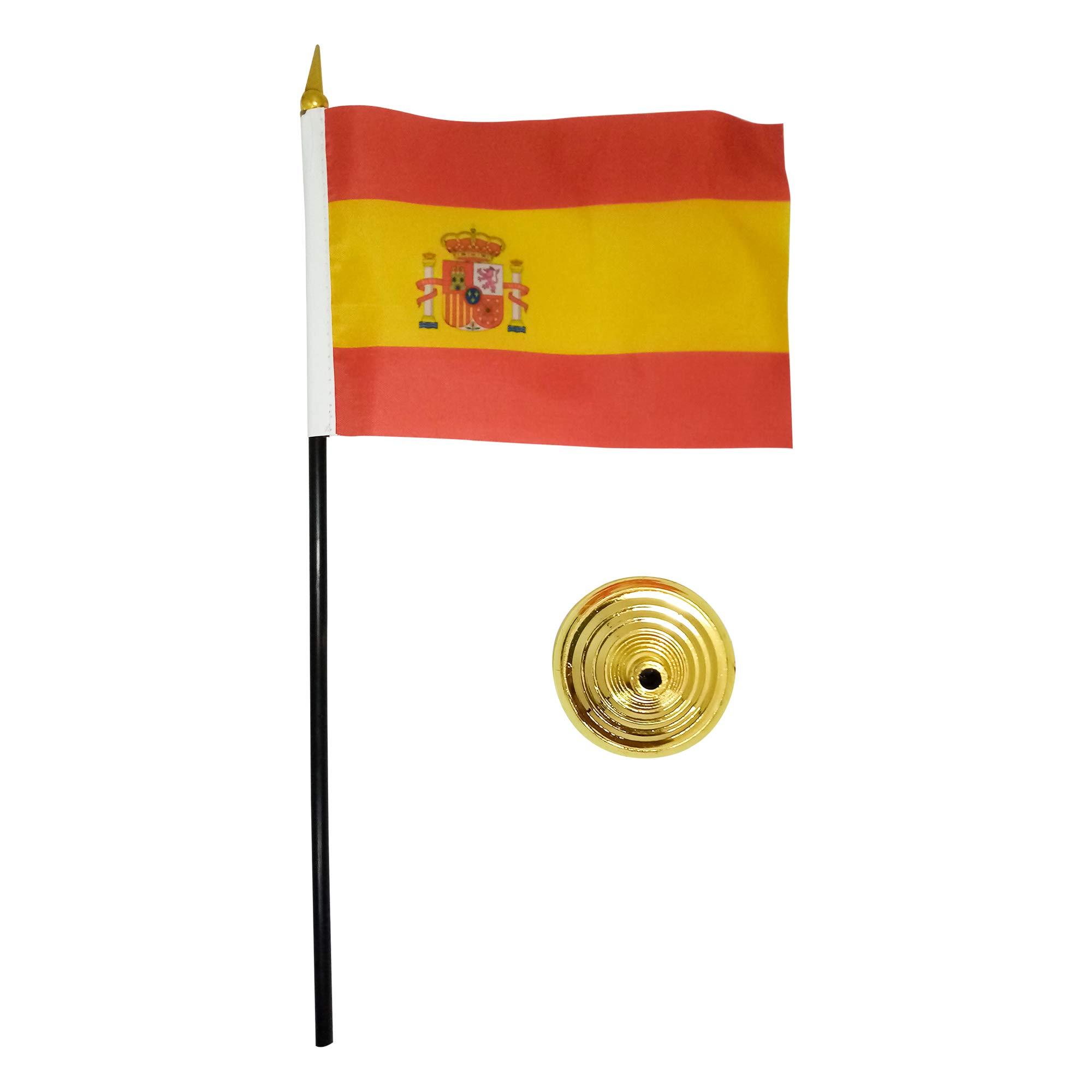 Ericraft Bandera de España pequeña de sobremesa, bandera España mesa despacho. Banderín de mesa: Amazon.es: Oficina y papelería