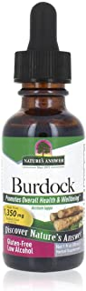 Nature's Answer Burdock Root with Organic Alcohol, 1-Fluid Ounce