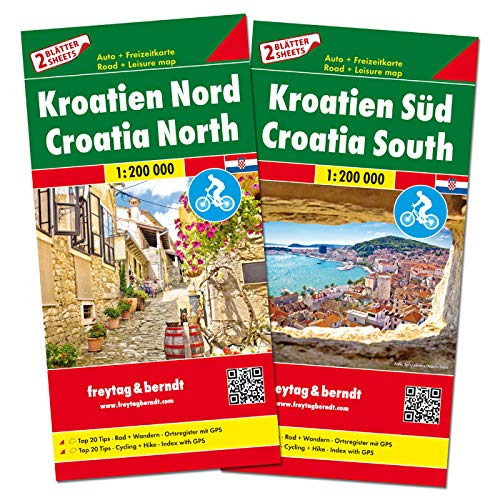 Kroatien Nord und Süd, Autokarten Set 1:200.000: Set wegenkaarten 1:150 000