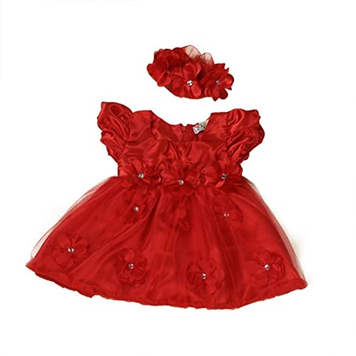 7af448797716a WuyiMC Clearance Baby Girls Red Lace Princess Headband Dresses For Christmas/New  Year