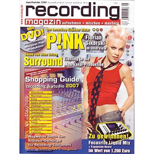 Recording Magazin 5 2007 mit DVD - Videoseminar Mix einer Pop-Produktion - Surround Einstieg Mehrkanal Produktion - aufnehmen - mischen - mastern