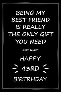 Being My Best Friend Is Really the Only Gift You Need: Funny Birthday Gift From Friend to Friend (Birthday Gifts for Him o...