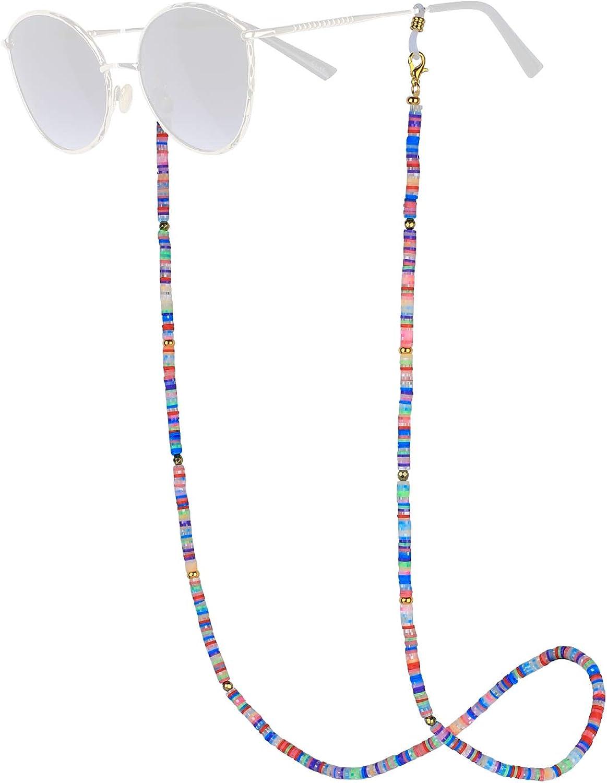KELITCH Eyeglasses Chain Mask Necklaces Holder Cords Eyewear Sunglasses Strand Necklaces Holder Collar Necklaces Retainer