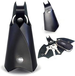 CAILLU POP Keychain Leather Bat for Car Key fob case,Leather Keys Ring Cover Holder,Man BMW Key Chain