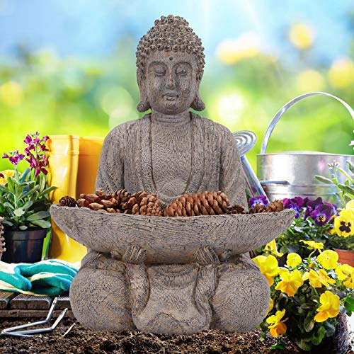 Goodeco Meditating Buddha Ornament figurine,Zen Garden Buddha Statue Sculpture...
